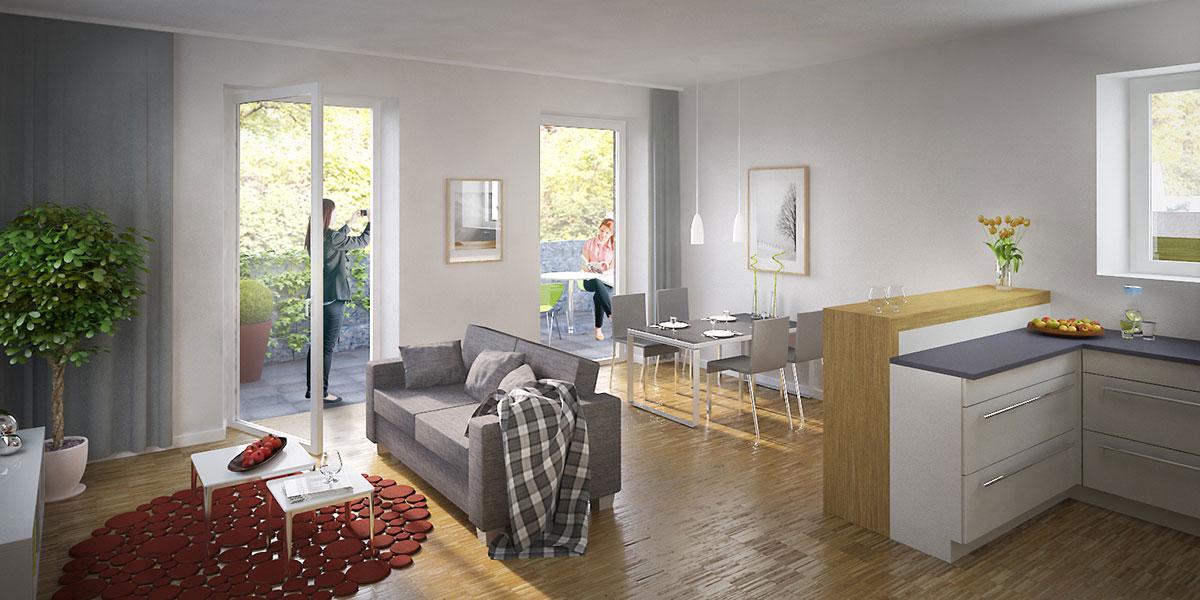 Wohnung friedrich ebert ring 3d betrieb gmbh for Innenarchitektur wohnung