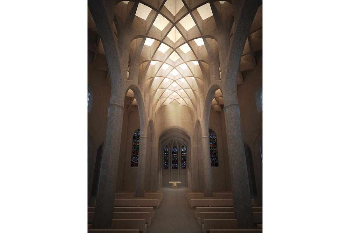St-Martha-Nacht_03_Visualisierung_Kirche_Innenraum_Gewoelbe