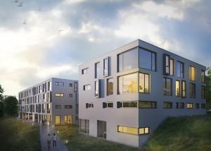 Wohnheim-Hubland_Architektur_Visualisierung_Wettbewerb_Abend